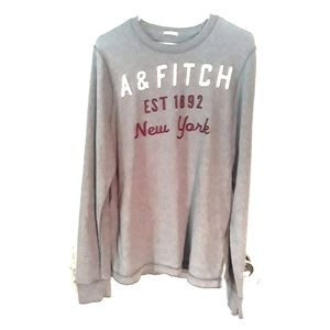 Abercrombie & Fitch Gray Muscle Sweater